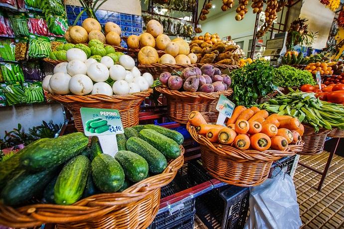 Mercato della frutta in Portogallo